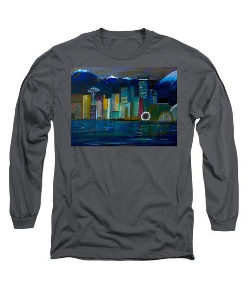 Seattle Skyiline Long Sleeve T-Shirt