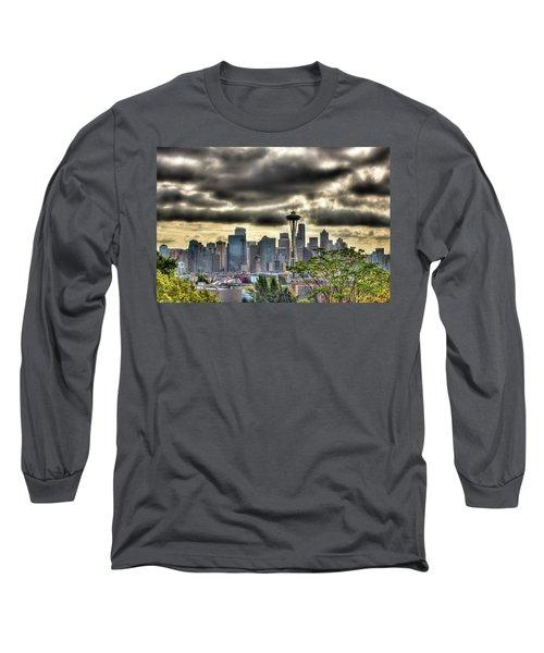 Seattle Washington Long Sleeve T-Shirt by David Patterson
