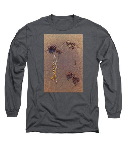 Seaweed On Clayhead Beach Long Sleeve T-Shirt
