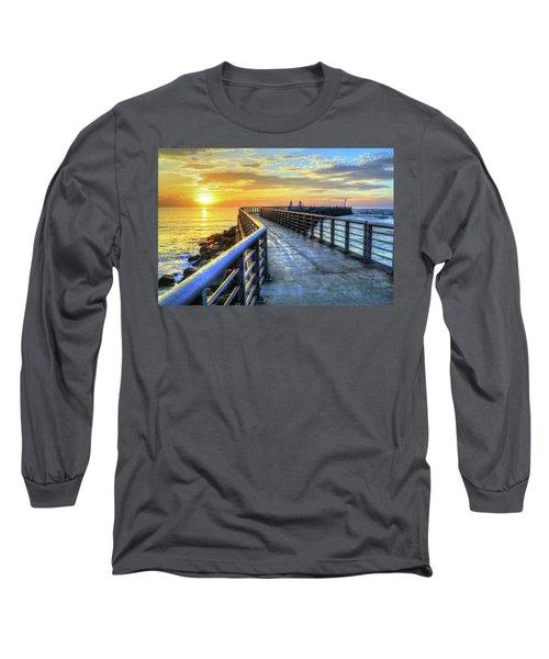 Sebastian Inlet Pier Along Melbourne Beach Long Sleeve T-Shirt