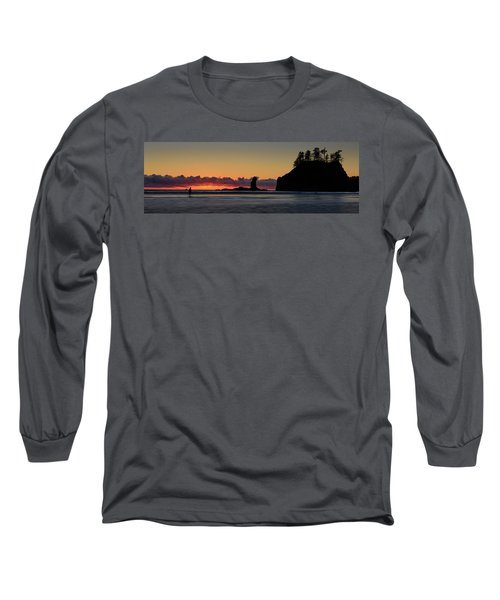Long Sleeve T-Shirt featuring the photograph Second Beach Silhouettes by Dan Mihai