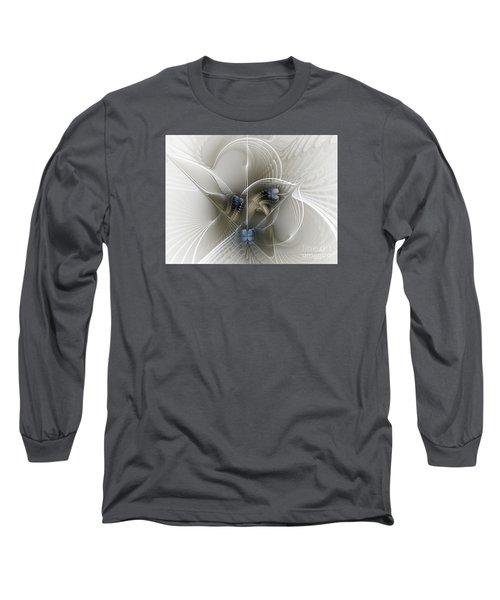 Long Sleeve T-Shirt featuring the digital art Secret Chambers by Karin Kuhlmann