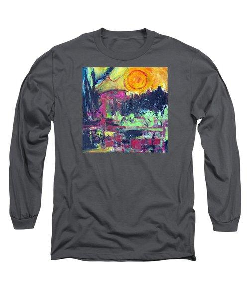 Long Sleeve T-Shirt featuring the painting Secret Garden by Betty Pieper