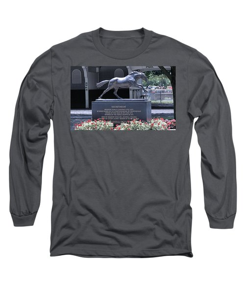 Long Sleeve T-Shirt featuring the photograph Secretariat by  Newwwman
