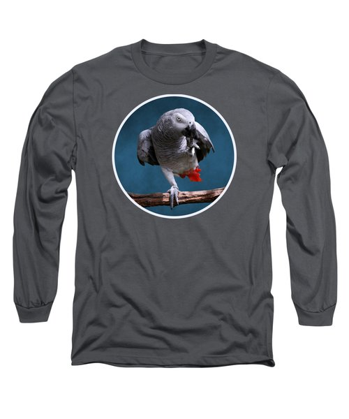 Secretive Gray Parrot Long Sleeve T-Shirt