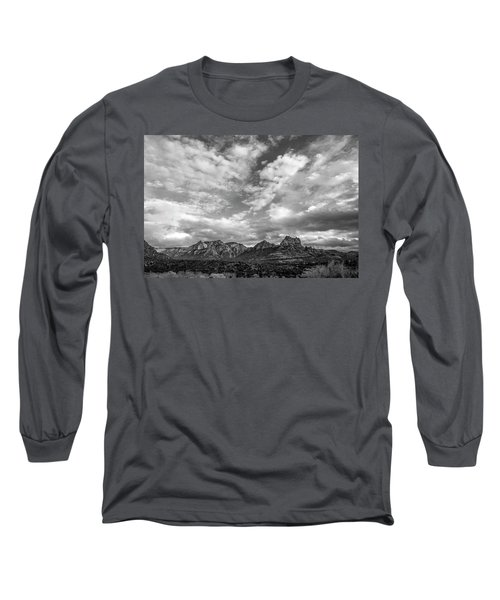 Sedona Red Rock Country Bnw Arizona Landscape 0986 Long Sleeve T-Shirt by David Haskett