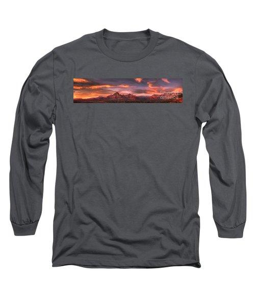 Sedona Sunset Panorama Long Sleeve T-Shirt