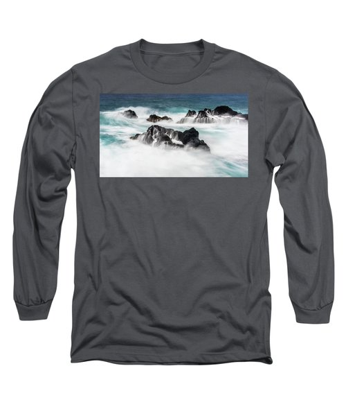 Long Sleeve T-Shirt featuring the photograph Seduced By Waves by Jon Glaser