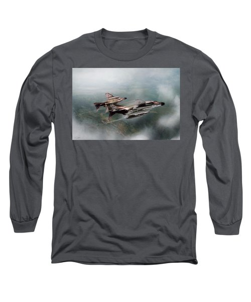 Long Sleeve T-Shirt featuring the digital art Seek And Attack by Peter Chilelli