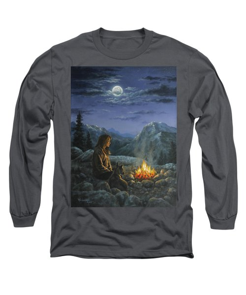 Long Sleeve T-Shirt featuring the painting Seeking Solace by Kim Lockman