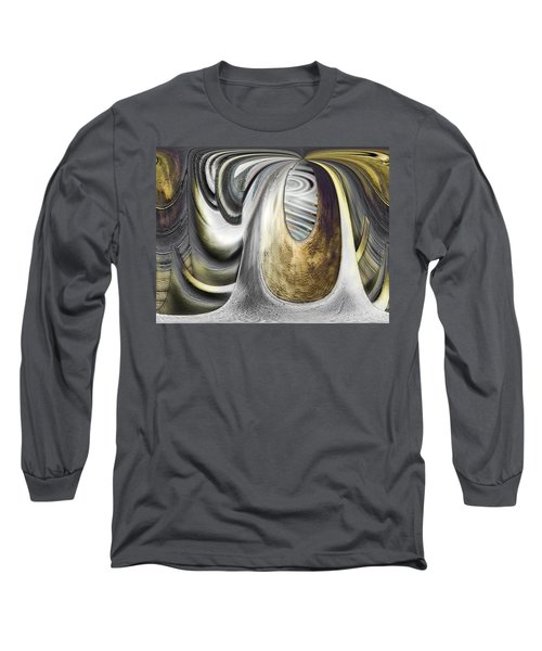 Long Sleeve T-Shirt featuring the digital art Seen In Stone by Wendy J St Christopher
