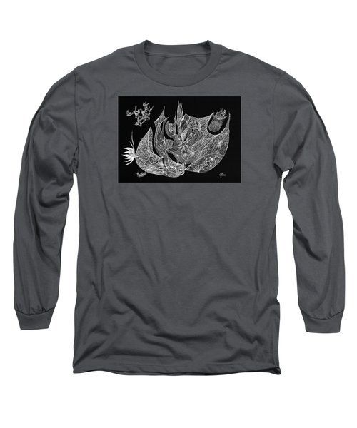 Segmented Long Sleeve T-Shirt by Charles Cater