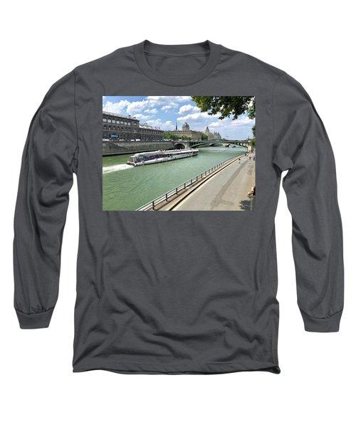 River Seine In Paris Long Sleeve T-Shirt