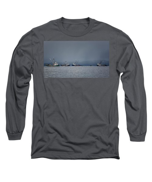 Long Sleeve T-Shirt featuring the photograph Seiners Off Mistaken Island by Randy Hall
