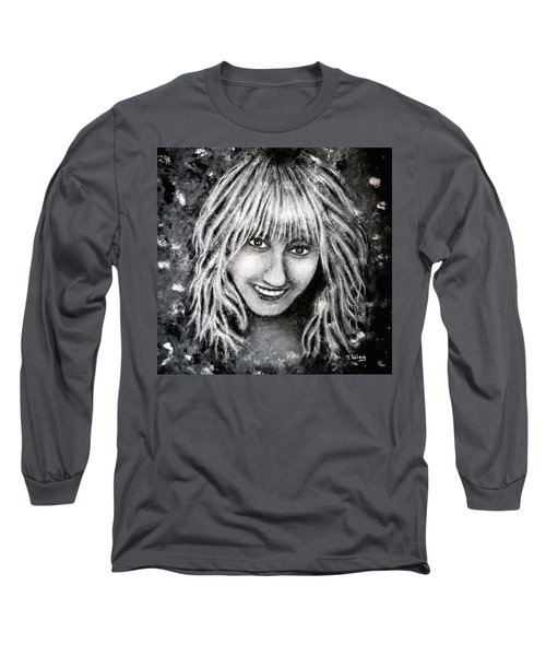 Long Sleeve T-Shirt featuring the painting Self Portrait #1 by Teresa Wing
