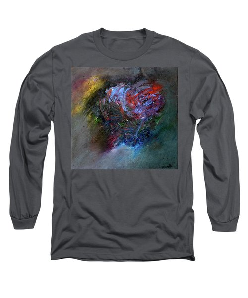 Long Sleeve T-Shirt featuring the painting Self  Portrait  by Michael Lucarelli
