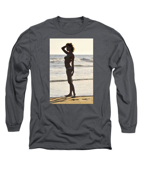 Self Reflecting Long Sleeve T-Shirt by Robert WK Clark