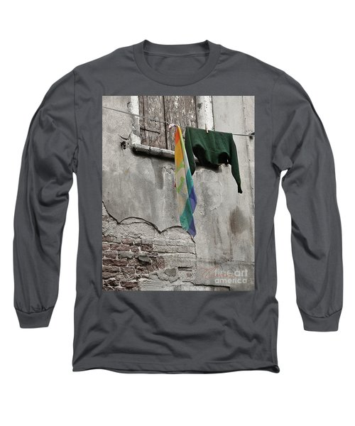 Long Sleeve T-Shirt featuring the photograph Semplicita - Venice by Tom Cameron