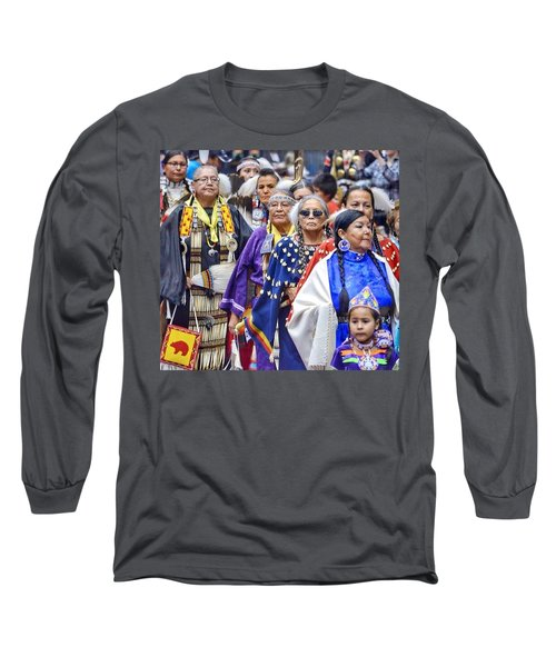 Senior Traditional Women Long Sleeve T-Shirt by Clarice Lakota