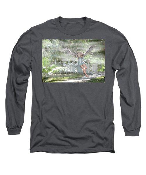 Sent From Heaven Long Sleeve T-Shirt by Rosalie Scanlon