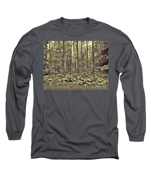 Sepia Landscape Long Sleeve T-Shirt