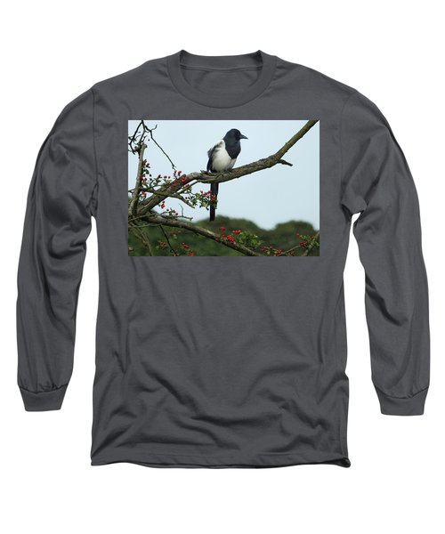 September Magpie Long Sleeve T-Shirt by Philip Openshaw