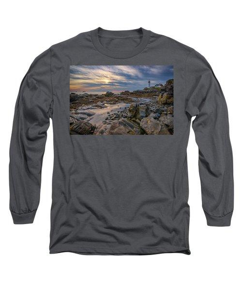 September Morn At Portland Head Long Sleeve T-Shirt