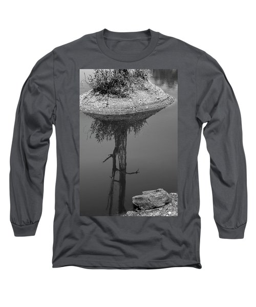 Long Sleeve T-Shirt featuring the photograph Serene Reflection, Nagzira, 2011 by Hitendra SINKAR