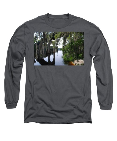 Serene River Long Sleeve T-Shirt by Gordon Mooneyhan
