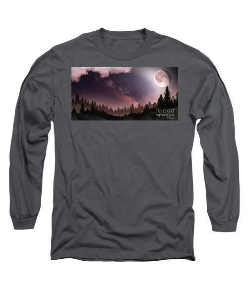 Long Sleeve T-Shirt featuring the digital art Serenity by Anthony Citro