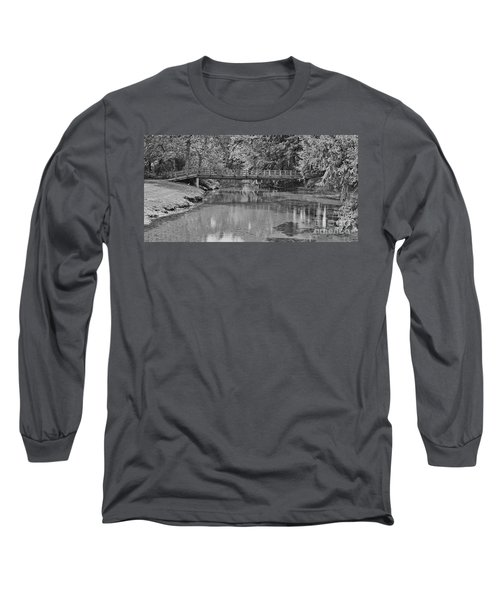 Serenity B And W Long Sleeve T-Shirt by Ansel Price