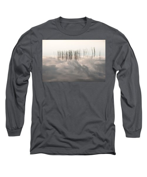 Serenity Dwells Here Where Tranquil Water Flow Cloaked  In Hues Of Love Long Sleeve T-Shirt