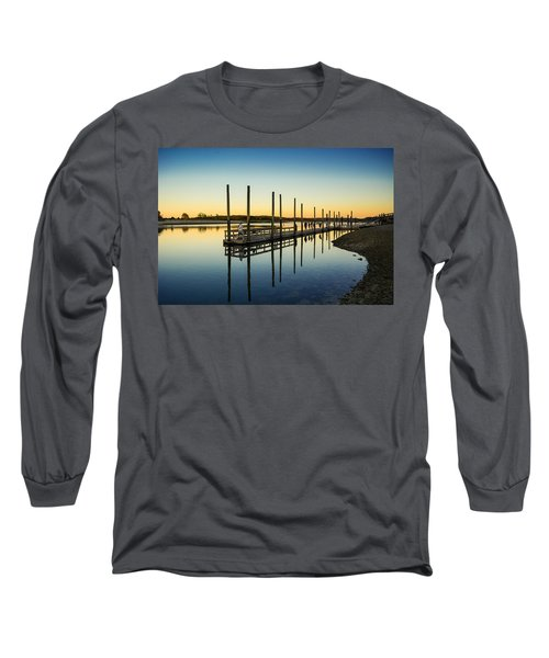 Serenity Sunset Kings Park New York Long Sleeve T-Shirt