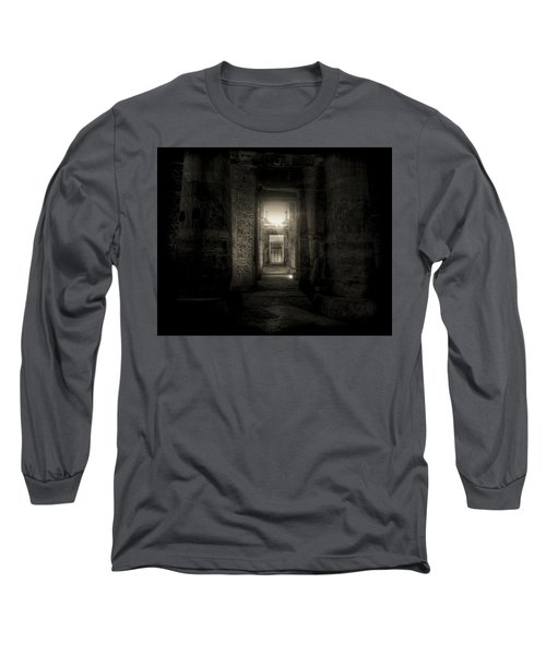 Long Sleeve T-Shirt featuring the photograph Seti I Temple Abydos by Nigel Fletcher-Jones