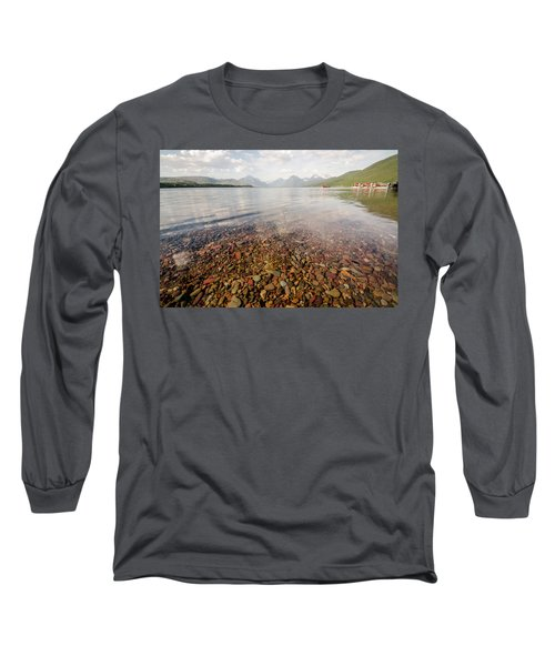 Setting Sun On Lake Mcdonald Long Sleeve T-Shirt