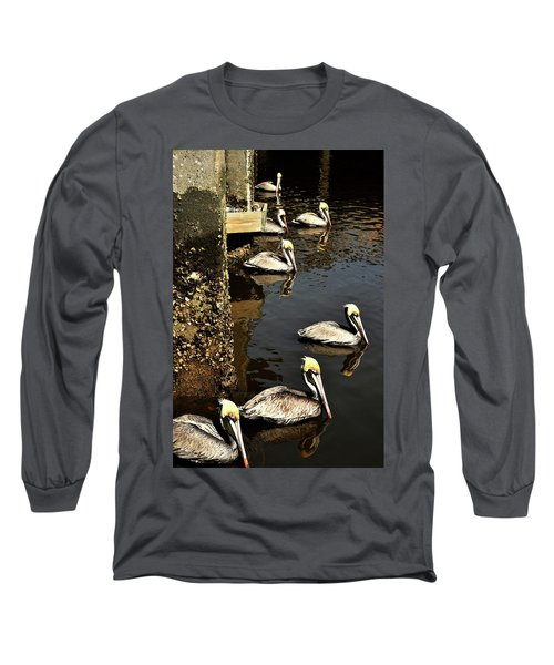 Seven Pelicans Long Sleeve T-Shirt