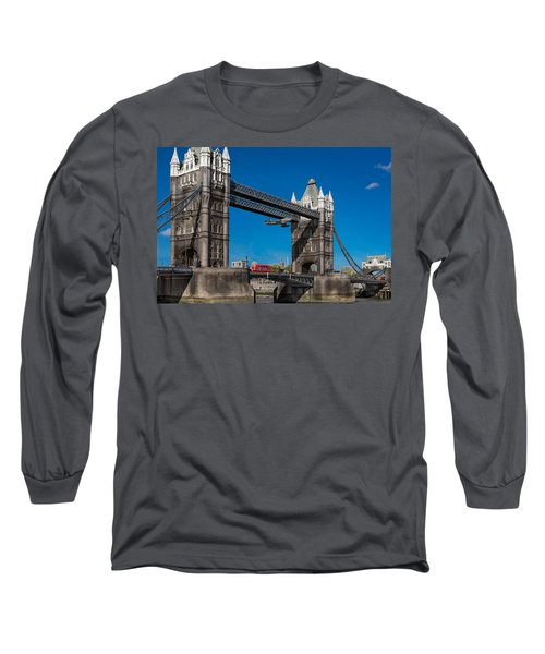 Seven Seconds - The Tower Bridge Hawker Hunter Incident  Long Sleeve T-Shirt by Gary Eason