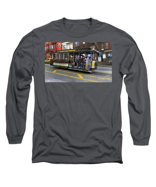 Sf Cable Car Powell And Mason Sts Long Sleeve T-Shirt by Steven Spak