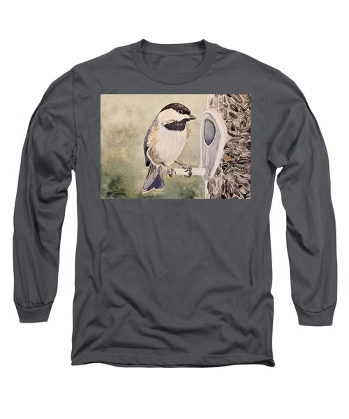 Shades Of Black Capped Chickadee Long Sleeve T-Shirt