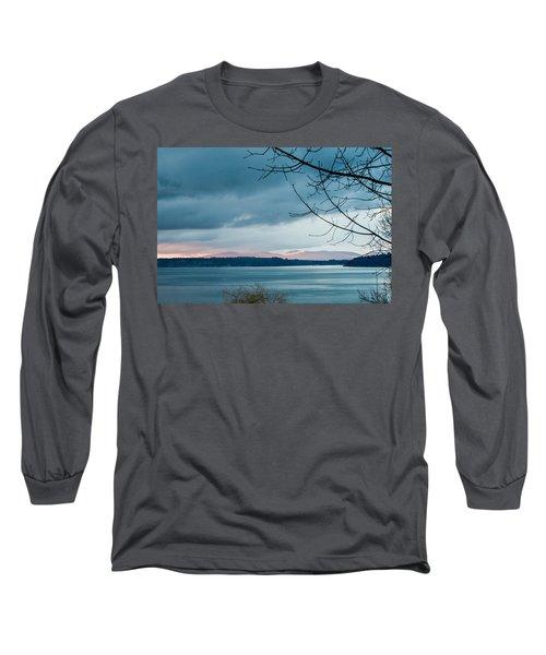 Shades Of Blue As Night Falls Long Sleeve T-Shirt