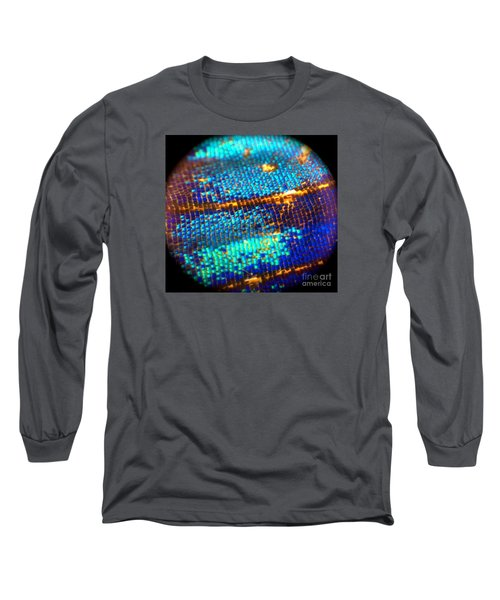 Shades Of Blue Long Sleeve T-Shirt by KD Johnson