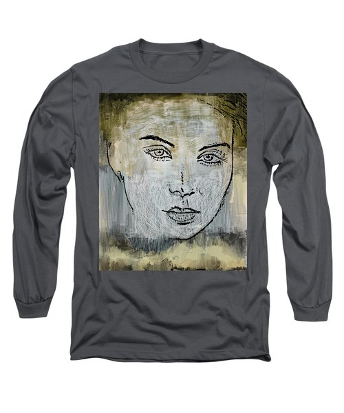 Shades Of Grey And Beige Long Sleeve T-Shirt