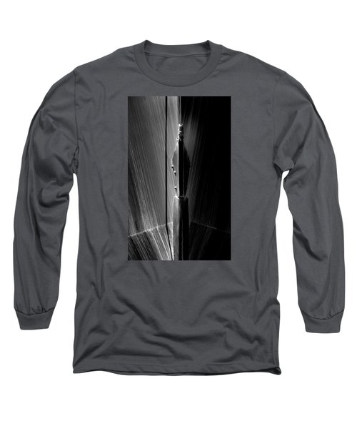 Shadow And Lines Long Sleeve T-Shirt by Newel Hunter