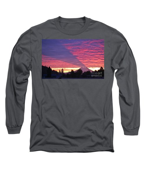 Long Sleeve T-Shirt featuring the photograph Shadow Of Mount Rainier by Sean Griffin