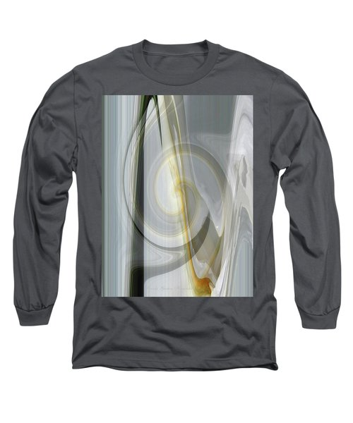 Shadows And Light - Iris Abstract - Manipulated Photography Long Sleeve T-Shirt