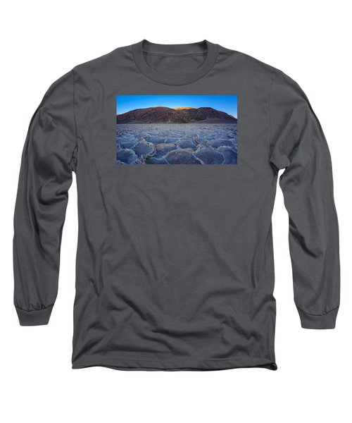 Shadows Fall Over Badwater Long Sleeve T-Shirt