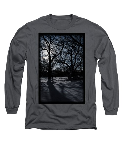 Shadows In January Snow Long Sleeve T-Shirt