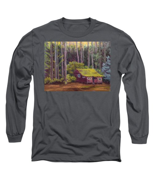 Long Sleeve T-Shirt featuring the painting Shady Grove by Nancy Jolley
