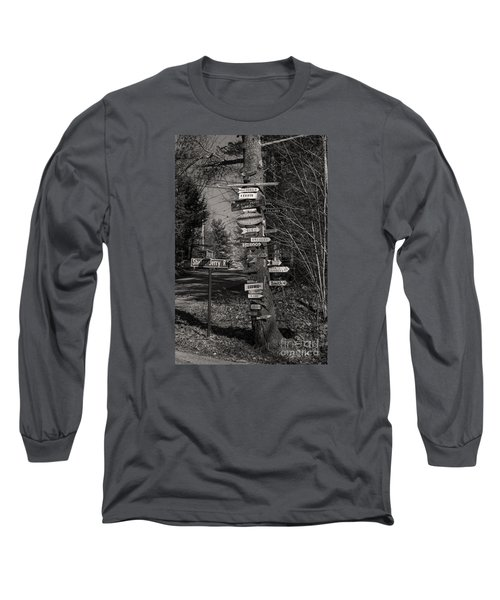 Shaker Jerry Road-moultonborough N H Long Sleeve T-Shirt by Mim White