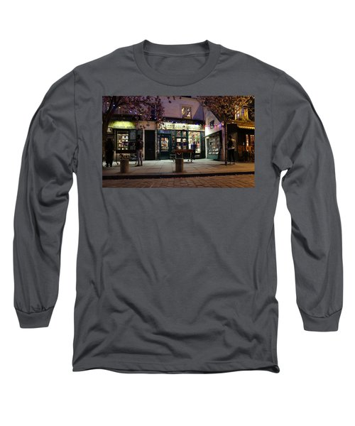 Long Sleeve T-Shirt featuring the photograph Shakespeare Book Shop 1 by Andrew Fare